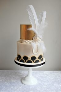 Art Deco 'Great Gatsby' Wedding Cake