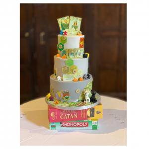 Board Games Wedding Cake