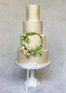 ivory Floral Hoop